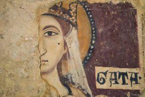 Guide-Around-Matera-Sasso-Caveoso-Chiesa-Rupestre-di-Santa-Lucia-ed-Agata-alle-Malve-XI-secolo-Particolare-Sant-Agata